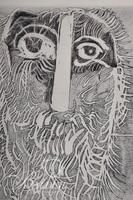 """Nahum Tschacbasov (Russian 1899 - 1984) """"The Hermit"""" Etching, Signed and Numbered 17/100"""