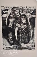 """Nahum Tschacbasov (Russian 1899 - 1984) """"Family Group"""" Etching, Signed and Numbered 17/100"""