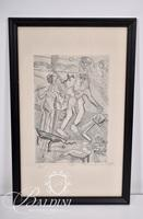 "Nahum Tschacbasov (Russian 1899 - 1984) ""Cataclysm"" Etching, Signed and Numbered 17/100"