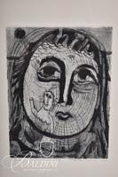 "Nahum Tschacbasov (Russian 1899 - 1984) ""Portrait of a Woman"" Etching, Signed and Numbered 17/100"