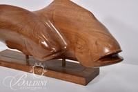 """John Cunningham """"Kentucky Dreamer"""" Wood Sculpture on Base"""