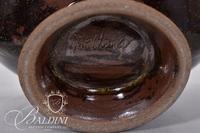 Pottery Bowl on Raised Base, Signed