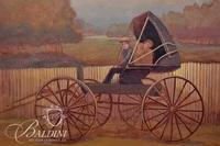 """Robert Martin """"Gonna Buy Me a Horse"""" Oil on Canvas, Signed"""