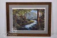 "Chester Martin ""Appalachian Landscape"" Opaque Watercolor"