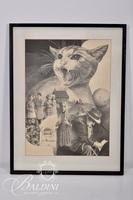 "Doris Lee Howie ""If a Cat Has Nine Lives"" Framed Lithograph, Signed and Numbered 3/75"