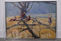 "Ken Kinsley ""The Swings"" Acrylic on Canvas, Signed"