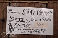 "Bonnie Shields ""Untitled (Mule)"" Mixed Media, Signed"