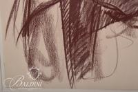 "Sally Ham (Govan) ""Towel Dry"" Framed Pastel, Signed"