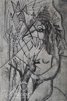 "(2) Nahum Tschacbasov (Russian 1899 - 1984) ""Allegorical Figure"" and ""Nude"" Etchings"