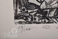 """(2) Nahum Tschacbasov (Russian 1899 - 1984) """"Choir Boys"""" and """"Dying Horse"""" Etchings, Signed and Numbered 17/100"""
