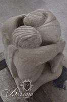"Tom Griscom Jr. ""Jacob and the Angel"" Limestone Sculpture"
