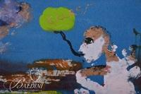 """Tim Hazell """"Man in Conversation with his Soul"""" Mixed Media, Signed"""