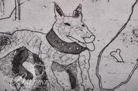 """Ron McBurnie """"Yard Dog"""" Etching Signed and Numbered 6/20"""