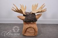 Mr. Moose (Library Sergeant at Arms) Paper Mache Sculpture