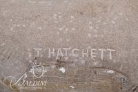 """I.T. Hatchett """"Lady in Waiting"""" Stone Sculpture, Inscribed on Base"""