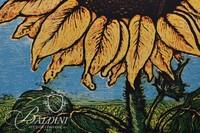 """Sheri Fleck Rieth """"Santa Helianthus Sanctus"""" Mixed Media Pencil Signed and Numbered 7/7"""