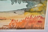 Landscape in Watercolor, Artist Unknown