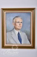 "Lula Estes Oil on Canvas Portrait of ""W. D. Strayhorn"", Former Principal of Watkins, Signed Lower Left"