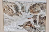 """Fran Henley """"Big Spill"""" Framed Watercolor, Signed"""
