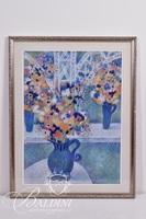 """John Richardson """"Florists Shop #2"""" Framed Pastel, Signed"""