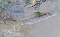 """Juanita Greene Parks """"Apple Still Life"""" Framed Pastel, Signed"""