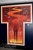 """John Buck, American (b. 1946) """"Great Falls"""" Mixed Media, Pencil Signed and Numbered 12/15 dated 1992"""