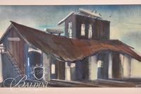 "Robert Vantrease ""L & N Depot"" Framed Watercolor, Signed"
