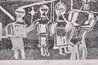 "Nahum Tschacbasov (Russian 1899 - 1984) ""Landscape with Figures"" Etching Signed and Numbered"
