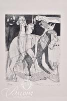 """Nahum Tschacbasov (Russian 1899 - 1984) """"Allegory"""" Framed Etching, Signed and Numbered 17/100"""
