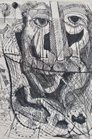 "Nahum Tschacbasov (Russian 1899 - 1984) ""The Fisherman"" Etching, Signed"