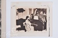 """Alison Roberts """"Sister"""" Print and May Fisher Cornelius """"Winter Evening"""" Etching Numbered 1/5, Both are Signed"""
