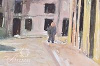 "Gerald Morgan ""Street in Spain"" Watercolor, Signed"