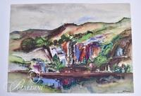 "Glenn Lemons ""Landscape"" Mixed Media, Signed"