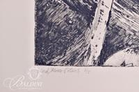 """Dianne Kilmer """"Alone on a Dark Mountain"""" Drawing and """"Wind, Moon and Stars"""" Print, Signed"""