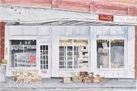 "Anne Muller ""The Co-op"" Watercolor, Signed"