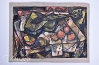 "Jean McWhorter ""The Green Guitar"" Unframed Painting"