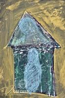 "Sandra Burke ""Madonna and Child"" Acrylic Painting on Foam Board"