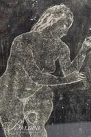 """Shelly Schackelford """"Nude Blessings"""" Etching Signed and Dated 1942"""