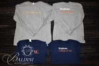 Assorted Watkins Navy Shirts and Long Sleeve Gray Shirts Various Sizes