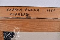 """Sharon Rusch """"Morning"""" Oil Painting on Canvas, Signed"""