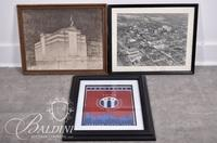 Early Drawing of Original Watkins Building, Early Photo of Downtown Nashville and 2016 TICA Poster