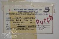 "Dean Shelton ""Rainbow Knife"" Watercolor, Signed"