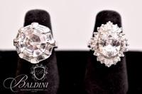 (2) Rings with CZ Stones, Both Stamped 925