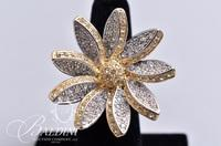 Large Multi-Tone Flower Ring, Stamped RP 925 China