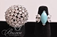 (2) Rings, Turquoise Ring is Stamped 925