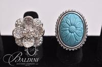 (2) Floral Costume Rings