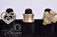(3) Rings, Gold Band Stamped 925