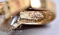 Ring with Iridescent Stone, Stamped UTC 925