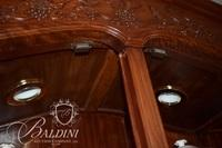 Solid Rosewood Lighted and Heavily Carved China Cabinet with Glass Shelving