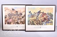 """(2) Framed Military Prints """"First at Vicksburg"""" and """"Remember Your Regiment"""""""
